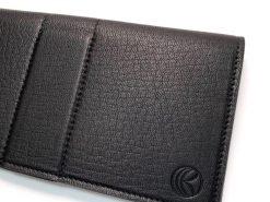 鹿皮のレザレクションの長財布-ロゴ