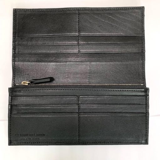 鹿皮のレザレクションの長財布-内側