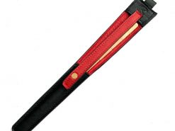 レザレクションの鹿革箸ケース-黒紅