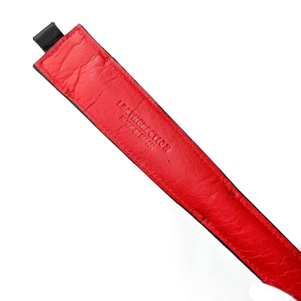 レザレクションの鹿革箸ケース-黒紅の裏面