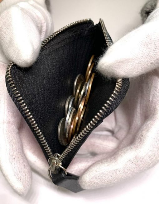 小銭入れの中身1-黒紅-レザレクション