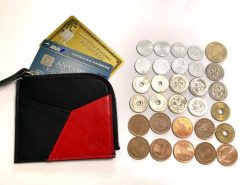 小銭入れの中身3-黒紅-レザレクション