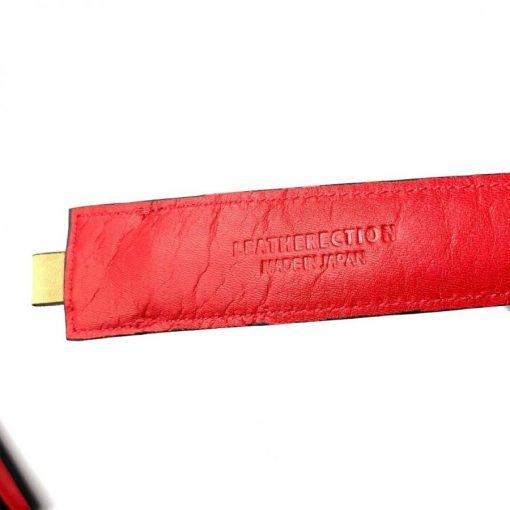 レザレクションの鹿革箸ケース-ベージュ×紅の裏面