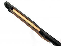 レザレクションの鹿革箸ケース-黒ブラウンの側面