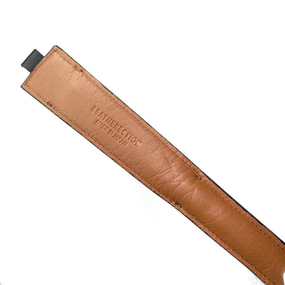 レザレクションの鹿革箸ケース-黒ブラウンの裏面