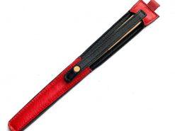 レザレクションの鹿革箸ケース-紅黒