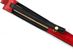レザレクションの鹿革箸ケース-紅黒の箸の拡大