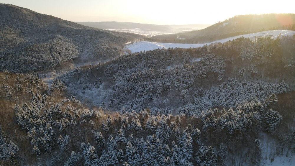 北海道の冬山