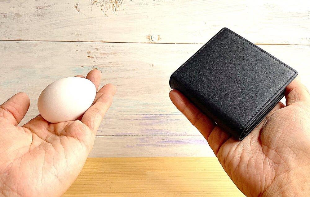 卵より軽い58ぐラム-レザレクション鹿革二つ折り財布