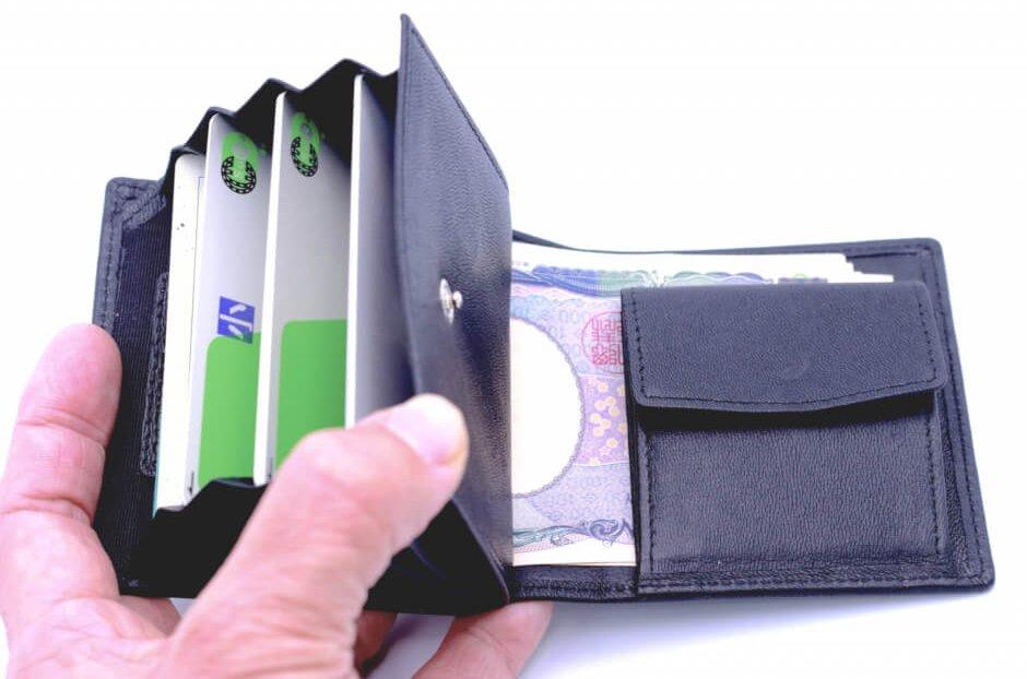 レザレクション鹿革二つ折り財布は交通系ICカードも可能