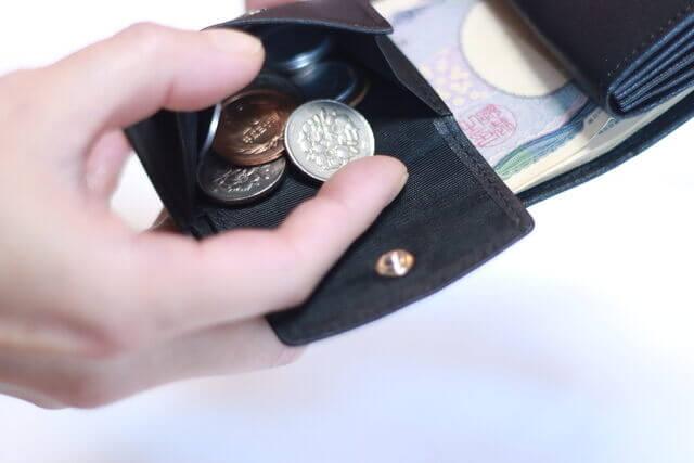 レザレクション鹿革二つ折り財布小銭部分